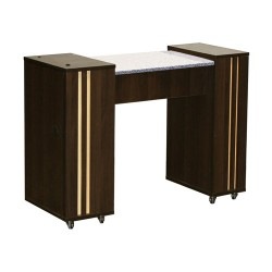 Adelle Manicure Table Chocolate A - 2b