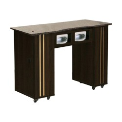 Adelle Manicure Table Chocolate BUV - 3b