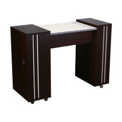 Adelle Manicure Table Dark Cherry A - 1b