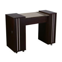 Adelle Manicure Table Dark Cherry A - 3b