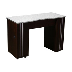 Adelle Manicure Table Dark Cherry B - 1b