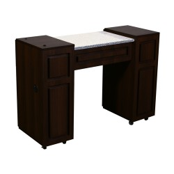 Canterbury Manicure Table Chocolate A - 1a