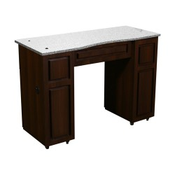 Canterbury Manicure Table Chocolate B - 1a