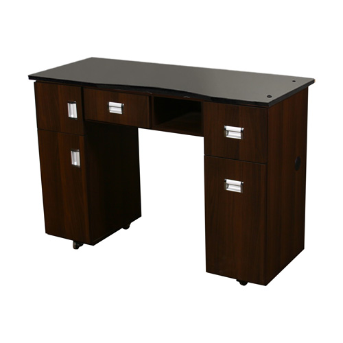 Canterbury Manicure Table Chocolate B