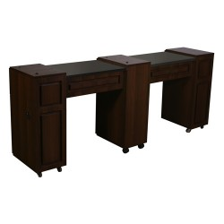 Canterbury Manicure Table Chocolate C - 1a