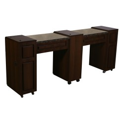 Canterbury Manicure Table Chocolate C - 2a