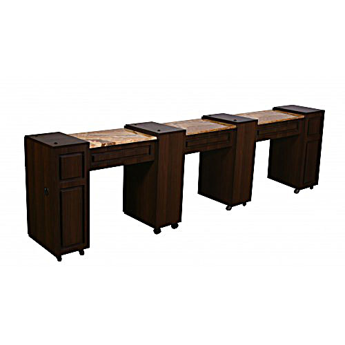 Canterbury Manicure Table Chocolate D