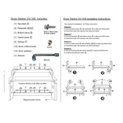 Custom Made Nail Dryer Station UV 108 (Maple Oak) - 01