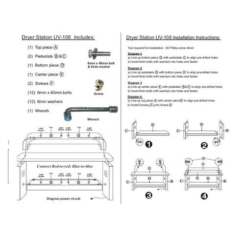Custom Made Nail Dryer Station UV 108 (Maple / Oak)