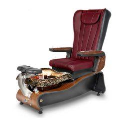 La Violette Spa Pedicure Chair Burgundy