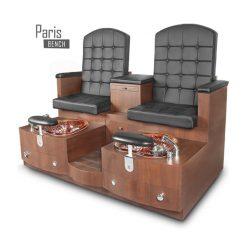 Paris Double Spa Pedicure Bench Black