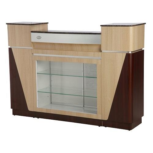 Reception Desk C 06 (Ash / Rosewood)
