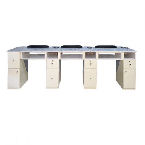 Triple Nail Table (Aluminum / Beige)