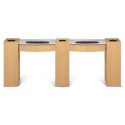 Classic Double Manicure Table - a4