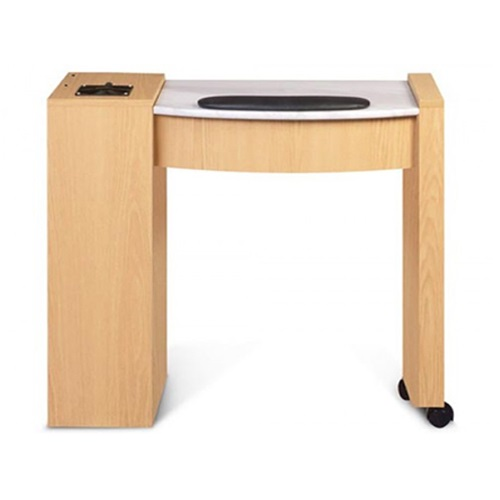 Classic Space Saver Nail Table Marble Top - 2a