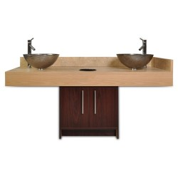Contemporary Island Sink with Glass Bowl 00