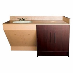 Contemporary Single Sink Cabinet - 1a