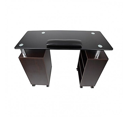 Glass Top Nail Table