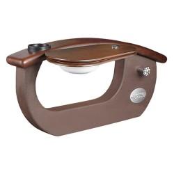 Gs9025 01 9620 1 Armrest Dark Cherry Wood Arm Brown - 1a