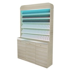 I Polish & Powder Rack With Gel Color & Powder Cabinet - 48