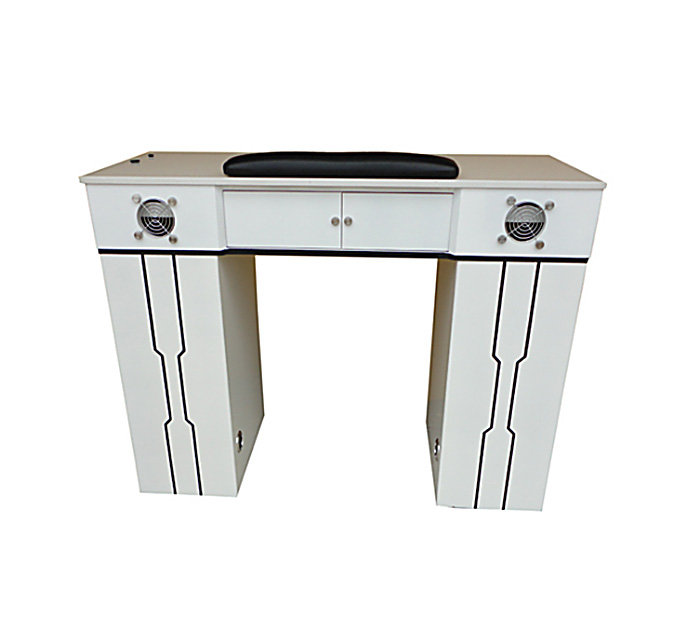 Indy Gel 2 fans White Nails Table - High Quality Pedicure Spa ...