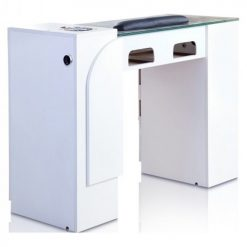 Ion White Manicure Table with UV Gel Lights