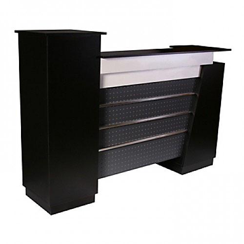 Monroe Reception Desk 72″ Black