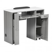 NM901 Manicure Table with UV Gel Hold - 7a