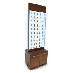 Paris Nail Polish Rack Cabinet LED Light