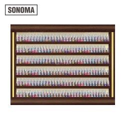 Sonoma Double Shelf Polish Rack - 1ab