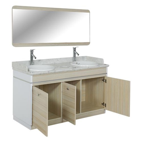 Topas Double Sink With Faucets – 55″
