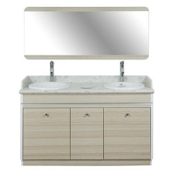 Topas Double Sink With Faucets - 55 - 3a