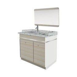 Topas Single Sink With Faucet - 35 - 2a