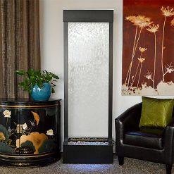 6′ Black Onyx Gardenfall Clear Glass