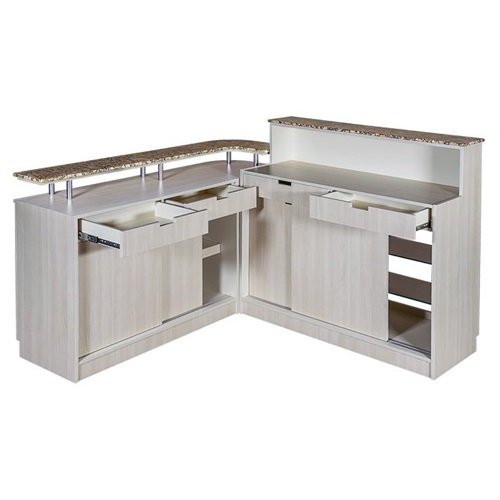 Calla Shaped Reception Side Cabinet