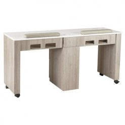Moon Double Nail Table 63 Inches