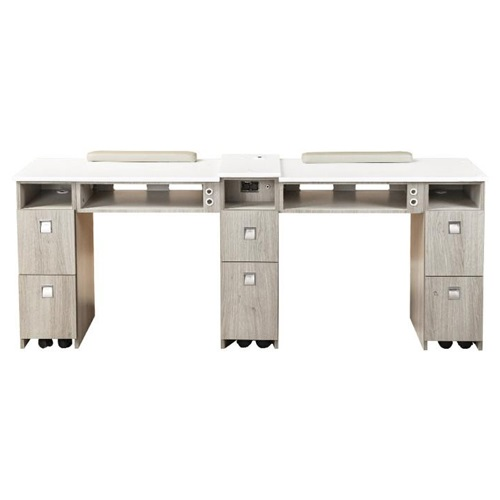 Moon Double Nail Table 76 Inches