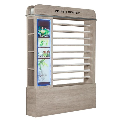 Moon Polish Rack With Cabinet & Led
