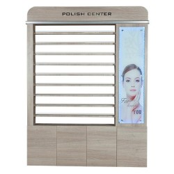 Moon Polish Rack With Cabinet & Led - 2