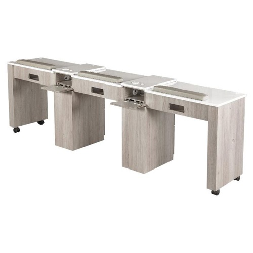 Moon Triple Nail Table 96 Inches