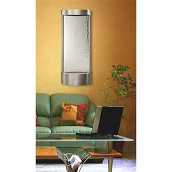 Stainless Serrano Vertical Silver Mirror