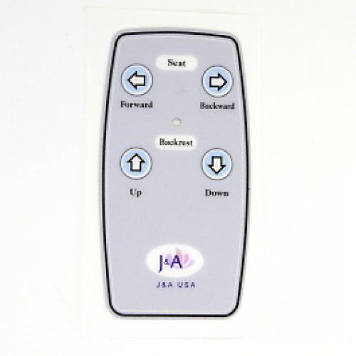 Sticker Recline Slide Remote