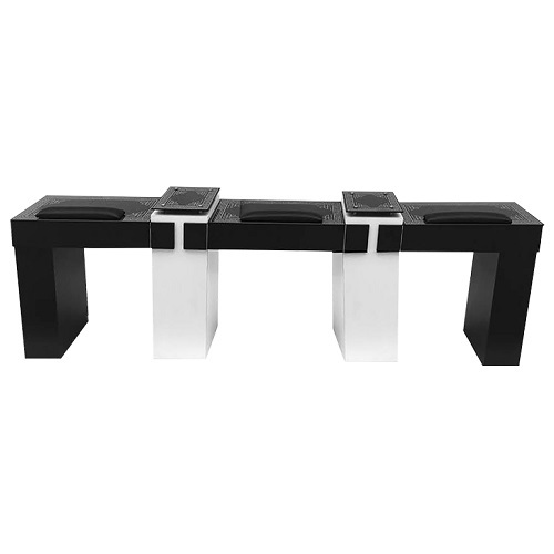 T15P BK Triple Nail Table