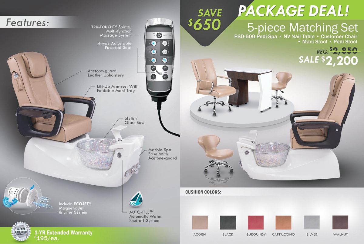 psd pedicure spa package promotion december. regalnailstore.com