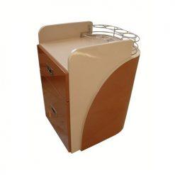 Custom Made Pedi Cart D 100PU (Almond / Cappuccino)
