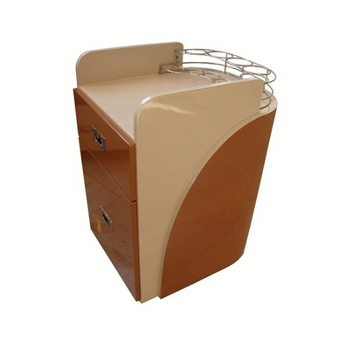 Custom Made Pedi Cart D 100PU (Almond / Cappuccino)