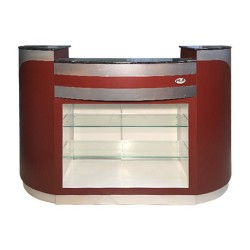 Reception Desk C209 (Burgundy Aluminum) 02