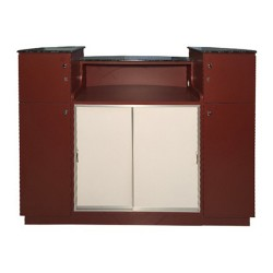 Reception Desk C209 (Burgundy Aluminum) 03