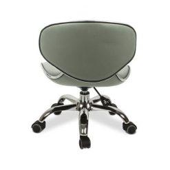 Umi Pedicure Stool Grey Back Side
