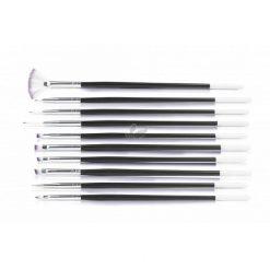 Design Black Nail Art Brush Set (10pcs)